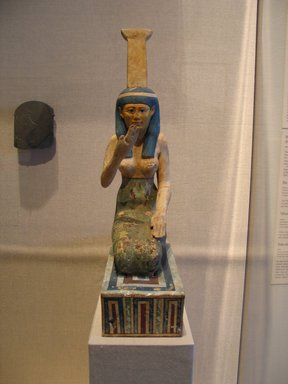 Brooklyn Museum: Painted Figure of the Goddess Nephthys