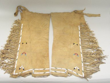 Osage (Native American). Leggings, early 20th century. Hide, beads, 29 3/4 x 15 3/8 in.  (75.5 x 39.0 cm). Brooklyn Museum, Museum Expedition 1911, Museum Collection Fund, 11.694.9005. Creative Commons-BY