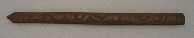 Ainu. Long Light Prayer Stick. Wood, 7/8 x 12 1/2 in. (2.3 x 31.8 cm). Brooklyn Museum, Gift of Herman Stutzer, 12.234. Creative Commons-BY