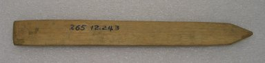 Ainu. Long Straight Prayer Stick. Wood, 1 1/8 x 10 7/16 in. (2.8 x 26.5 cm). Brooklyn Museum, Gift of Herman Stutzer, 12.243. Creative Commons-BY