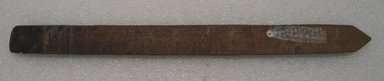 Ainu. Long Narrow Prayer Stick. Wood, 7/8 x 11 3/4 in. (2.3 x 29.8 cm). Brooklyn Museum, Gift of Herman Stutzer, 12.274. Creative Commons-BY