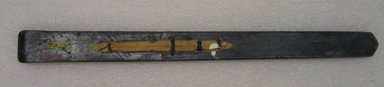 Ainu. Prayer Stick. Lacquer, 1 1/16 x 12 15/16 in. (2.7 x 32.8 cm). Brooklyn Museum, Gift of Herman Stutzer, 12.309. Creative Commons-BY