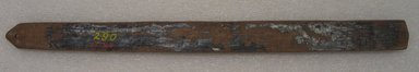 Ainu. Prayer Stick. Lacquer, 1 1/8 x 13 9/16 in. (2.8 x 34.5 cm). Brooklyn Museum, Gift of Herman Stutzer, 12.310. Creative Commons-BY