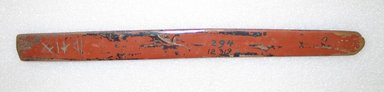 Ainu. Prayer Stick. Lacquer, 1 3/16 x 13 7/16 in. (3 x 34.2 cm). Brooklyn Museum, Gift of Herman Stutzer, 12.319. Creative Commons-BY