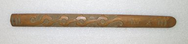 Ainu. Light Prayer Stick. Wood, 1 1/8 x 13 3/16 in. (2.9 x 33.5 cm). Brooklyn Museum, Gift of Herman Stutzer, 12.328. Creative Commons-BY