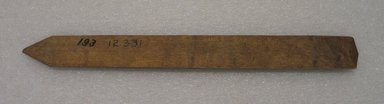 Ainu. Prayer Stick. Wood, 1 1/4 x 12 3/8 in. (3.2 x 31.4 cm). Brooklyn Museum, Gift of Herman Stutzer, 12.331. Creative Commons-BY