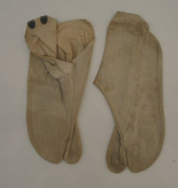 Fireman's Uniform, 19th century. Cotton (slippers & trousers), 12.81.5 (21666f):: 3 15/16 x 3 11/16 x 9 5/8 in. (10 x 9.4 x 24.5 cm). Brooklyn Museum, 12.81.1-.9. Creative Commons-BY