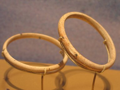 Undecorated Bracelet, One of Pair, ca. 1938-1700 B.C.E. Ivory, 3/16 x Diam. 2 7/16 in. (0.5 x 6.2 cm). Brooklyn Museum, Gift of the Egypt Exploration Fund, 13.1046.2. Creative Commons-BY