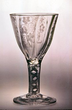 Drawn Ogee Molded Bowl, ca. 1735-1785. Glass, 4 7/8 x 2 3/4 in. (12.4 x 7 cm). Brooklyn Museum, Purchased by Special Subscription and Museum Collection Fund, 13.370. Creative Commons-BY