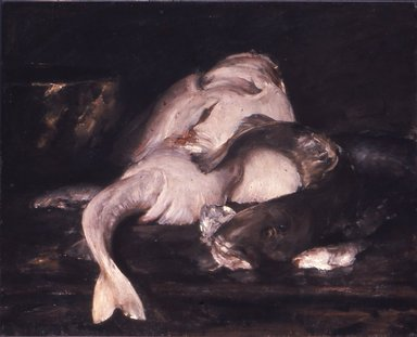 William Merritt Chase (American, 1849-1916). Still Life, Fish, 1912. Oil on canvas, 31 7/8 x 39 7/16 in. (81 x 100.2 cm). Brooklyn Museum, John B. Woodward Memorial Fund, 13.54