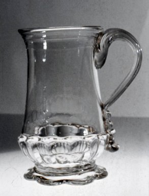 Molded Jug, ca. 1700-1800. Glass, 4 5/8 x 2 5/8 in. (11.7 x 6.7 cm). Brooklyn Museum, Purchased by Special Subscription and Museum Collection Fund, 13.611. Creative Commons-BY