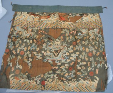 Table Front Hanging, 19th century. Silk, 33 7/8 x 31 7/8 in. (86 x 81 cm). Brooklyn Museum, Museum Expedition 1913-1914, Museum Collection Fund, 14.140. Creative Commons-BY