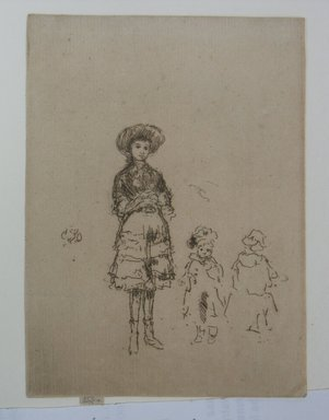 James Abbott McNeill Whistler (American, 1834-1903). The Little Nurse. Etching on paper, 5 3/16 x 3 13/16 in. (13.2 x 9.7 cm). Brooklyn Museum, Gift of A. Augustus Healy, 14.263