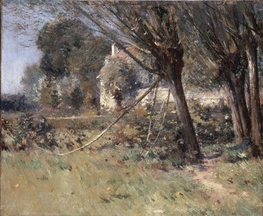 Theodore Robinson (American, 1852-1896). Willows, ca. 1892. Oil on canvas, 17 15/16 x 21 11/16 in. (45.6 x 55.1 cm). Brooklyn Museum, Gift of George D. Pratt, 14.550