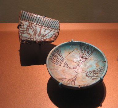 Bowl with Lotus Design, ca. 1479-1400 B.C.E. Faience, 1 3/16 x 4 1/8 in. (3 x 10.4 cm). Brooklyn Museum, Gift of the Egypt Exploration Fund, 14.610. Creative Commons-BY
