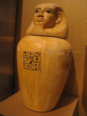 Brooklyn Museum: Canopic Jar of Lady Senebtisi