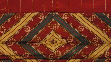 Curtain for Shrine, 19th century. Silk, 35 7/16 x 44 7/8 in. (90 x 114 cm). Brooklyn Museum, Museum Expedition 1913-1914, Museum Collection Fund, 14.731.3. Creative Commons-BY