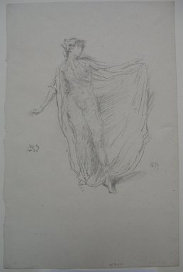James Abbott McNeill Whistler (American, 1834-1903). The Dancing Girl, 1889. Lithograph, Sheet: 12 7/16 x 8 1/16 in. (31.6 x 20.5 cm). Brooklyn Museum, Gift of the Rembrandt Club, 15.382