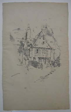 James Abbott McNeill Whistler (American, 1834-1903). Gabled Roofs, Vitre, 1893. Lithograph, irregular: 13 x 8 1/8 in. (33 x 20.6 cm). Brooklyn Museum, Gift of the Rembrandt Club, 15.387