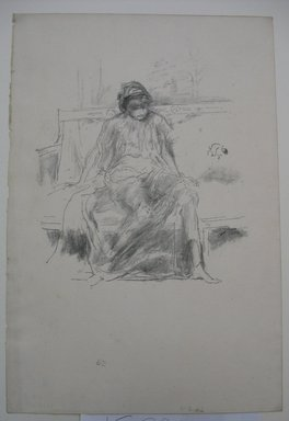 James Abbott McNeill Whistler (American, 1834-1903). The Draped Figure, Seated, 1893. Lithograph, 12 1/8 x 8 3/16 in. (30.8 x 20.8 cm). Brooklyn Museum, Gift of the Rembrandt Club, 15.391