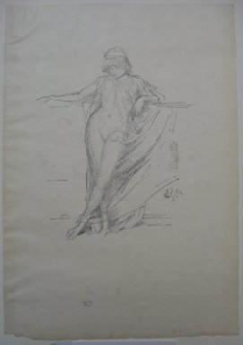 James Abbott McNeill Whistler (American, 1834-1903). Little Draped Figure Leaning, 1893. Lithograph, 12 7/16 x 8 5/8 in. (31.6 x 21.9 cm). Brooklyn Museum, Gift of the Rembrandt Club, 15.395