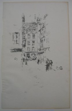 James Abbott McNeill Whistler (American, 1834-1903). Rue Furstemberg, 1894. Lithograph, 12 3/4 x 8 in. (32.4 x 20.3 cm). Brooklyn Museum, Gift of the Rembrandt Club, 15.399