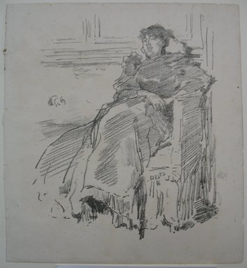 James Abbott McNeill Whistler (American, 1834-1903). La Robe Rouge, 1894. Lithograph, 8 5/8 x 7 7/8 in. (21.9 x 20 cm). Brooklyn Museum, Gift of the Rembrandt Club, 15.401