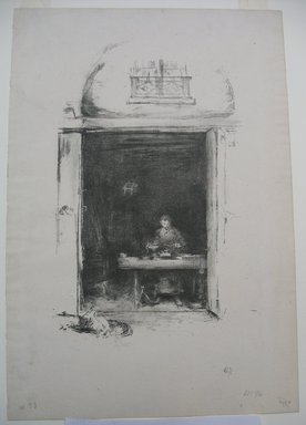 James Abbott McNeill Whistler (American, 1834-1903). The Smith - Passage du Dragon, 1894. Lithograph, 14 3/8 x 9 13/16 in. (36.5 x 24.9 cm). Brooklyn Museum, Gift of the Rembrandt Club, 15.402