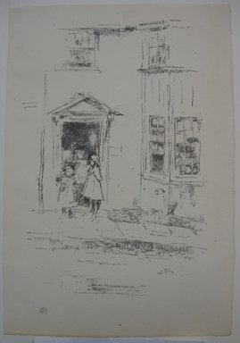 James Abbott McNeill Whistler (American, 1834-1903). The Little Doorway, Lyme Regis, 1895. Lithograph, 11 1/16 x 7 9/16 in. (28.1 x 19.2 cm). Brooklyn Museum, Gift of the Rembrandt Club, 15.403