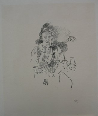 James Abbott McNeill Whistler (American, 1834-1903). The Master Smith, 1895. Lithograph, 11 1/8 x 8 7/8 in. (28.3 x 22.5 cm). Brooklyn Museum, Gift of the Rembrandt Club, 15.404