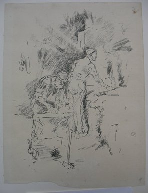 James Abbott McNeill Whistler (American, 1834-1903). Father and Son, 1895. Lithograph, 9 1/2 x 7 3/16 in. (24.1 x 18.3 cm). Brooklyn Museum, Gift of the Rembrandt Club, 15.406