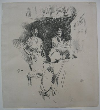 James Abbott McNeill Whistler (American, 1834-1903). The Brothers, 1895. Lithograph, 8 5/8 x 7 3/4 in. (21.9 x 19.7 cm). Brooklyn Museum, Gift of the Rembrandt Club, 15.409