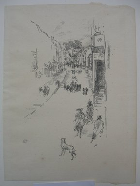 James Abbott McNeill Whistler (American, 1834-1903). Sunday, Lyme Regis, 1895. Lithograph, 9 7/8 x 7 3/16 in. (25.1 x 18.3 cm). Brooklyn Museum, Gift of the Rembrandt Club, 15.412