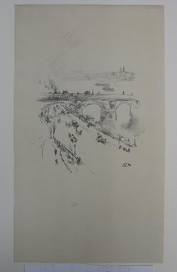 James Abbott McNeill Whistler (American, 1834-1903). Waterloo Bridge, 1896. Lithograph, 11 7/8 x 6 7/8 in. (30.2 x 17.5 cm). Brooklyn Museum, Gift of the Rembrandt Club, 15.419