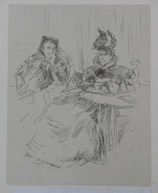 James Abbott McNeill Whistler (American, 1834-1903). Afternoon Tea, 1897. Lithograph, Sheet: 12 1/8 x 10 7/16 in. (30.8 x 26.5 cm). Brooklyn Museum, Gift of the Rembrandt Club, 15.422
