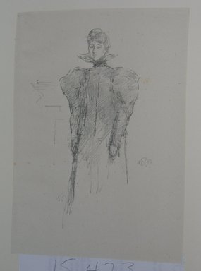 James Abbott McNeill Whistler (American, 1834-1903). The Medici Collar, 1897. Lithograph, irregular: 9 1/2 x 6 7/16 in. (24.1 x 16.4 cm). Brooklyn Museum, Gift of the Rembrandt Club, 15.423