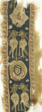 Coptic. Tapestry Weave, 6th century C.E. Wool, 7 3/4 x 3 in. (19.7 x 7.6 cm). Brooklyn Museum, Gift of the Egypt Exploration Fund, 15.427. Creative Commons-BY