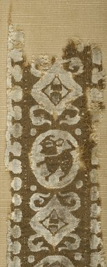 Coptic. Fragmentary Border or Band, 8th century C.E. Flax, wool, 14 1/2 x 3 1/8 in. (36.8 x 7.9 cm). Brooklyn Museum, Gift of the Egypt Exploration Fund, 15.428. Creative Commons-BY