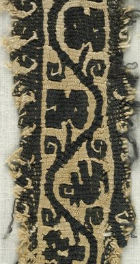 Coptic. Tapestry Weave, 5th-6th century C.E. Flax, wool, 9 1/2 x 1 3/4 in. (24.1 x 4.4 cm). Brooklyn Museum, Gift of the Egypt Exploration Fund, 15.432. Creative Commons-BY