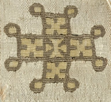 Coptic. Tapestry Weave, 5th-6th century C.E. Silk, linen, 1 3/4 x 1 1/2 in. (4.4 x 3.8 cm). Brooklyn Museum, Gift of the Egypt Exploration Fund, 15.439. Creative Commons-BY