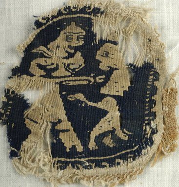 Coptic. Tapestry Weave, 6th century C.E. Flax, wool, 2 3/4 x 2 3/4 in. (7 x 7 cm). Brooklyn Museum, Gift of the Egypt Exploration Fund, 15.441. Creative Commons-BY