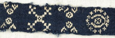Coptic. Plain Cloth With Brocade Weave, 6th century C.E. Flax, wool, 9 1/2 x 1 in. (24.1 x 2.5 cm). Brooklyn Museum, Gift of the Egypt Exploration Fund, 15.444a. Creative Commons-BY