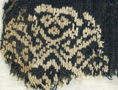 Coptic. Plain Cloth With Brocade Weave, 6th century C.E. Flax, wool, 6 x 5 1/2 in. (15.2 x 14 cm). Brooklyn Museum, Gift of the Egypt Exploration Fund, 15.444c. Creative Commons-BY