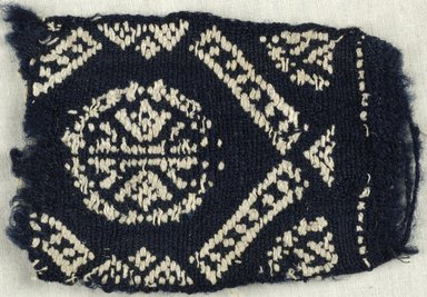 Coptic. Plain Cloth With Brocade Weave, 6th century C.E. Flax, wool, 3 x 5 in. (7.6 x 12.7 cm). Brooklyn Museum, Gift of the Egypt Exploration Fund, 15.444d. Creative Commons-BY
