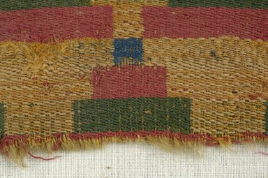Coptic. Compound Cloth Weave, 5th-6th century C.E. Wool, 3 x 6 in. (7.6 x 15.2 cm). Brooklyn Museum, Gift of the Egypt Exploration Fund, 15.447. Creative Commons-BY