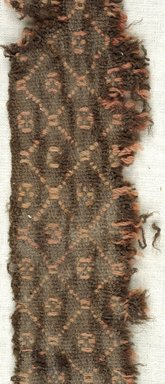 Coptic. Plain Cloth With Brocaded Pattern Weave, 5th-6th century C.E. Wool, 15.449a: 1 3/4 x 16 9/16 in. (4.5 x 42 cm). Brooklyn Museum, Gift of the Egypt Exploration Fund, 15.449a. Creative Commons-BY