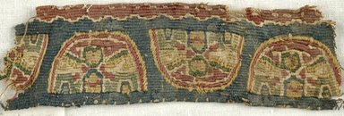Coptic. Tapestry Weave. Flax, wool, 1/2 x 4 in. (1.3 x 10.2 cm). Brooklyn Museum, Gift of the Egypt Exploration Fund, 15.455. Creative Commons-BY
