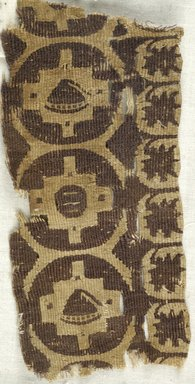 Coptic. Tapestry Weave, 7th century C.E. Flax, wool, 2 9/16 x 5 1/2 in. (6.5 x 14 cm). Brooklyn Museum, Gift of the Egypt Exploration Fund, 15.457. Creative Commons-BY
