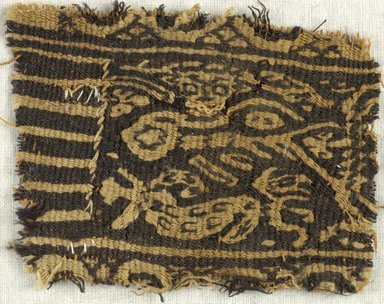 Coptic. Tapestry Weave, 6th century C.E. Linen, wool, 1 x 3 in. (2.5 x 7.6 cm). Brooklyn Museum, Gift of the Egypt Exploration Fund, 15.459. Creative Commons-BY