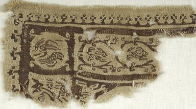 Coptic. Tapestry Weave, 5th-6th century C.E. Linen, wool, 4 x 6 1/2 in. (10.2 x 16.5 cm). Brooklyn Museum, Gift of the Egypt Exploration Fund, 15.461. Creative Commons-BY